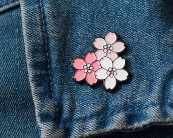Sakura Cherry Blossom Enamel Pin – Cherry Blossoms –Flowers – Lapel Pin – Japanese