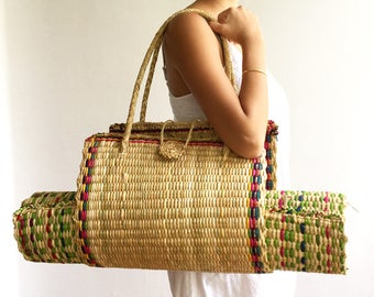 Yoga Mat Bag (Organic Grass Weave)