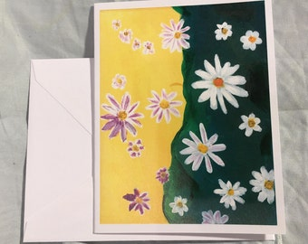 Note Card Abstract Daisy 2