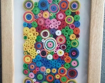 Abstract 1:Amazing Handmade Quilling Art Gift-Wall Art Picture-House Warming Gift-Special Paper Design-Gift For Occasions