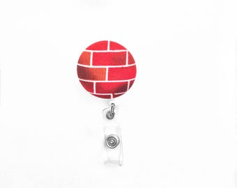 Red Brick Badge Reel
