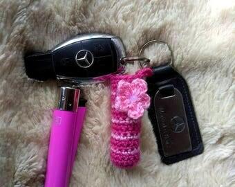 Lighter Case, Crochet Lighter Holder,Crochet Pouch, Crochet for smokers,Crochet Keychain Lip Balm Holder