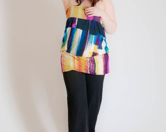 Multicolor jersey tunic