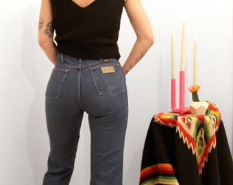 Vintage 70s Wranglers with crease