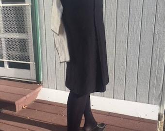 Steampunk skirt, jersey skirt, black skirt, knit skirt, steampunk clothing, victorian skirt, victorian clothing, gothic victorian