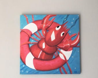 Print on canvas: lobster Bruno