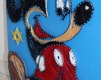 String Art/Mickey Mouse/Disney/ childhood/Wood art/ wall decoration/ Children room decoration/ playfulness/