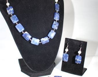 Blue Sodalite Jewelry Set