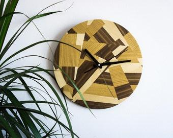 """Wooden wall clock """"MOSAIC"""""""