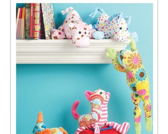 M6485 Mc Call's stuffed animal toy sewing pattern