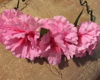Selene Peony Flowers Light Up Crown/Headband