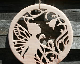 decorative natural wood fairy Butterfly