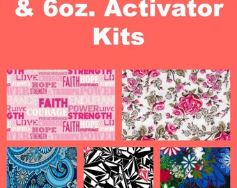 Hydrographic Dip kit with 6oz activator and 1 Linear Meter of Hydrographic Film Girly Prints