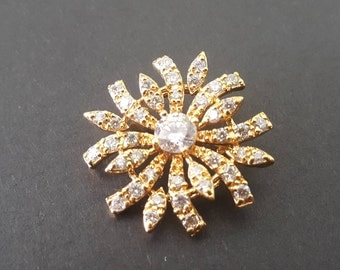 24k Gold Plated Brooch