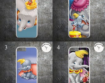 Dumbo case disney cover elephant art  hard CASE COVER fits iPHONE 4 5 6 7 and Samsung 6 7 8 Plus