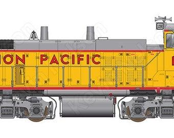 Digital Art Print - EMD MP15DC Locomotive - Union Pacific 1290
