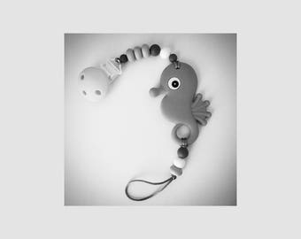 Customized Seahorse Teether Paci Clip