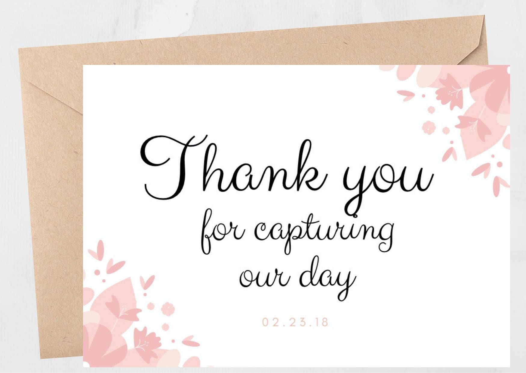 Thank You Card Wedding Note Notes