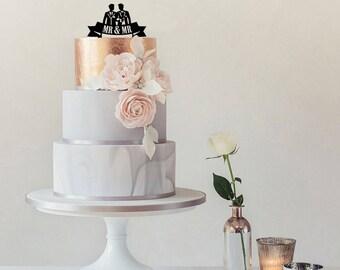 Mr & Mr Gay Wedding Cake Topper
