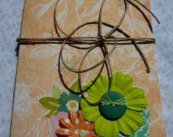Book no. 14, personalized gift, notes, art journal, snailmail or penpals exchanges