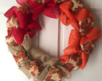 Tricolor Fall Wreath