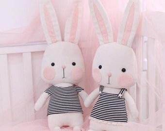 DIY Kit Good Night Rabbit / Fabric Doll Animal / Textile Doll