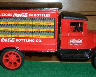 Coca Cola brand Delivery Bank Truck Diecast ERTL