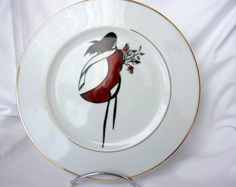 "Collection ""Minimalist"" hand painted plate"