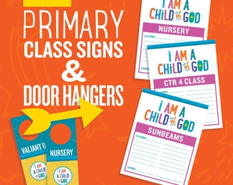 2018 Primary Editable Class Signs and Door Hangers