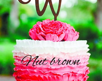 Wedding Cake Topper Lette Cake Topper W Wood Letter Cake Topper Gold Monogram Wedding Cake Topper gold Personalized cake topper for wedding