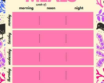 Weekly Meal Planner - Digital Download