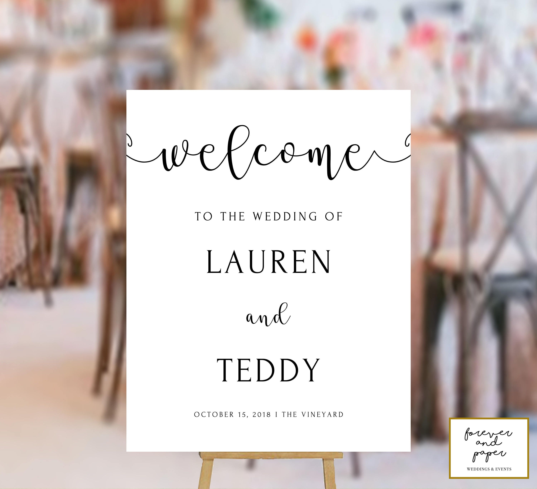 Welcome Sign Wedding Printable Welcome Wedding Sign Wedding Diy