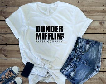 The Office Dunder Mifflin Shirt - The Office TV Show Gifts - The Office Sweatshirt - Dwight Schrute Farms Tshirt - Dunder Mifflin Logo Shirt