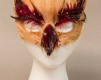 Hand Feathered Gryphon MAsk