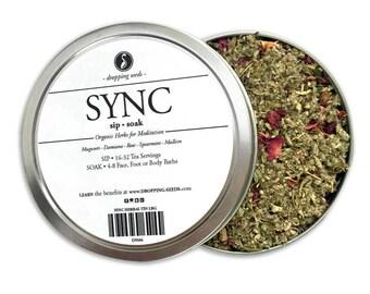 SYNC Herbal Blend - Chakra Tea - Herb Blend - Herbal Magic, Diy Herbal Blend, Chakra Blend, Herbal Tea Blend, Herbal Soak, Herbal Bath Salts