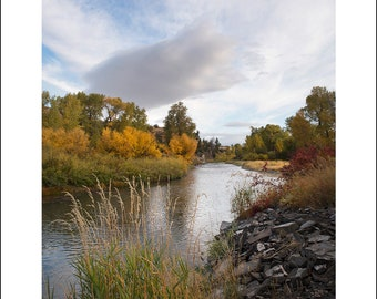 Fall morning on the Shields River, rural Montana