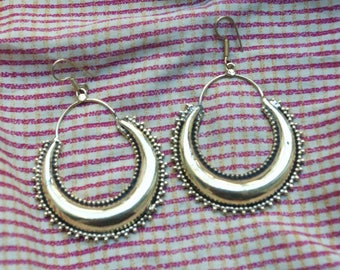 Large Gypsy Earrings. Large Dangle Hoop Earrings. Ethnic Earrings. Tribal Earrings.