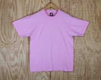 Vintage 1980's Blank Pink 50/50 Screen Stars Best T Shirt T-shirt Tee Medium Large M / L