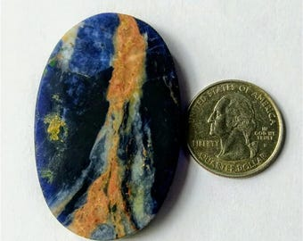 54.33 x 34.97 mm,Ovel Shape Sodalite,Attractive Sodalite /wire wrap stone/Super Shiny/Pendant Cabochon/Semi PreciousGemstone,silver jewelry
