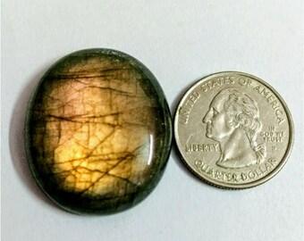 33.10 x 28.10 mm, Ovel Shape Labradorite Cobochon/Gold Flash/wire wrap stone/Super Shiny/Pendant Cabochon/Semi Precious Gemstone/Cabochon