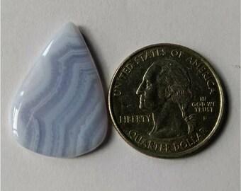 28.10 x 19.95 mm,Pear-Tear Shape Blue Lace Agate Cabochon/Attractive Blue Lace Agate/wire wrap stone//Pendant Cabochon/SemiPrecious Gemstone