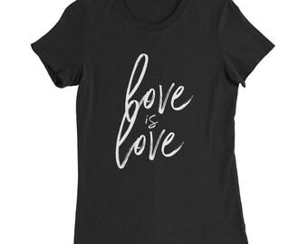 Love is Love, Celebrate a love that wins! Women's Slim Fit T-Shirt
