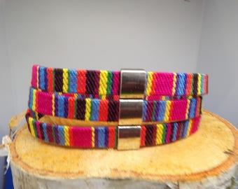 Flat cord bracelet