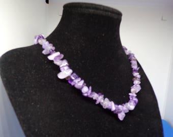 Amethyst irregular beads necklace