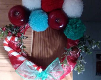 Christmas wreath, handmade tassels