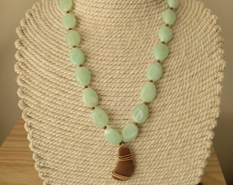 RRR Sea Glass Necklace with Beading