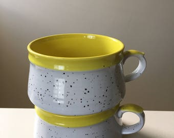 Speckled Retro Soup Mugs / Bowls