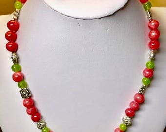 Rodnite and Jade necklace