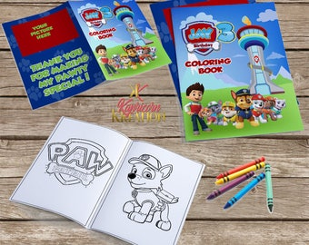paw patrol coloring book paw patrol party favor custom coloring book personalized coloring