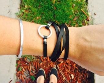 Rock Leather Bracelet